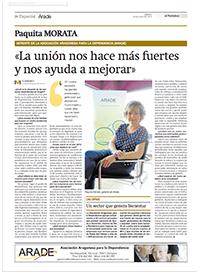 Especial Arade en el Periódico de Aragón julio de 2015